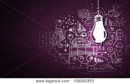 Concept of business ideas and strategy on color background
