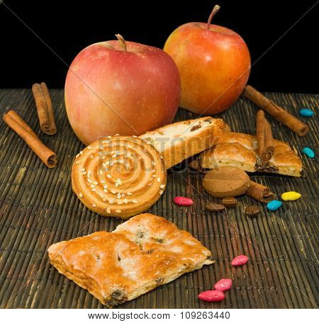 Image Of Different Cookie And Apples