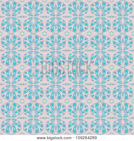 Seamless pattern turquoise gray violet