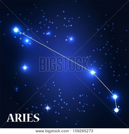 Symbol. Aries Zodiac Sign. Vector Illustration.