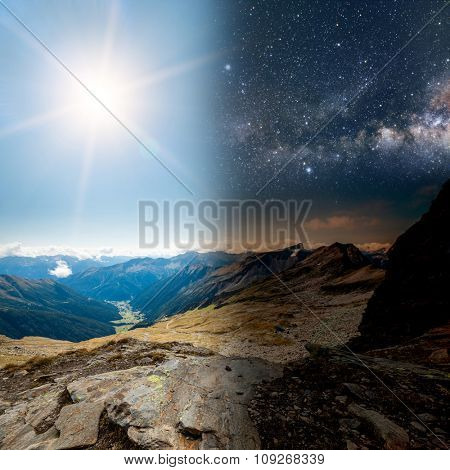 mountains in the national park Hohe Tauern in Alps in Austria. Backgrounds. Elements of this image furnished by NASA