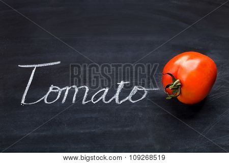 Fresh Tomato With Inscriptions