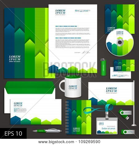 Corporate Identity Template With Stripes