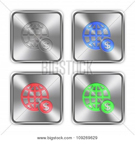 Color Online Payment Steel Buttons
