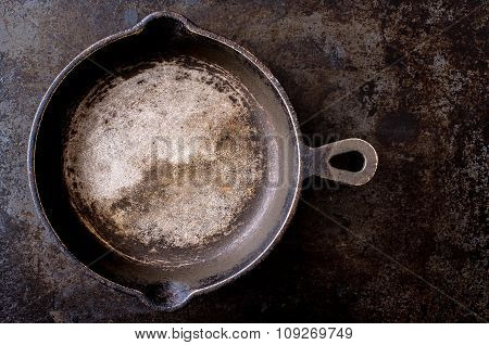 Rustic Iron Pan For Background