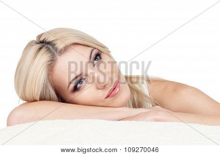 Beautiful and calm blond woman
