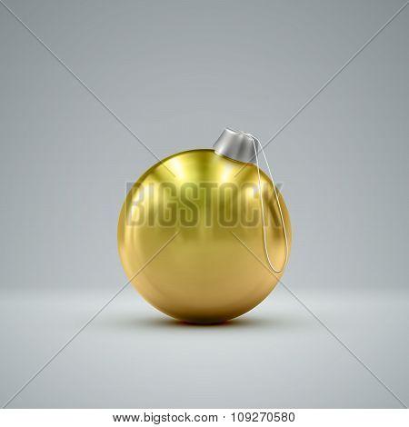 Christmas golden ball.