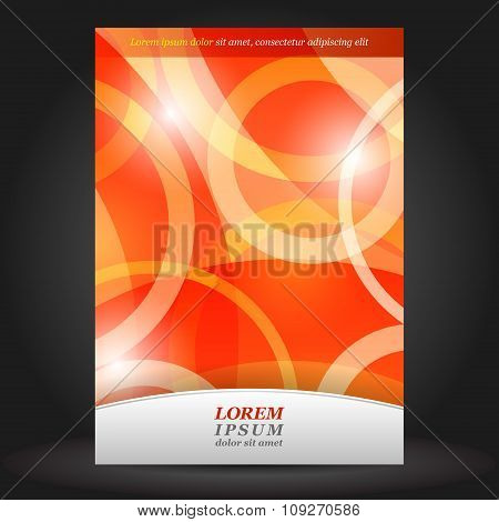 Red Brochure Cover Design