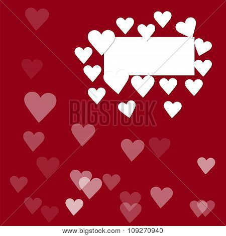 white frame with hearts 3d