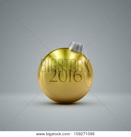 Christmas ball. Happy New 2016 Year