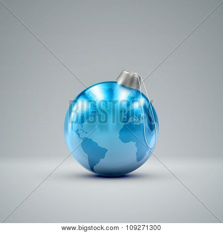 Christmas ball. Holiday vector illustration