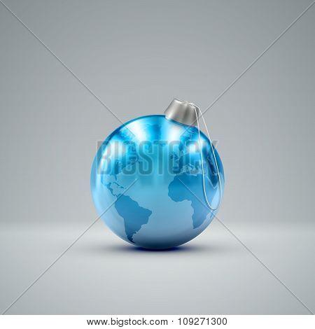 Christmas ball. Holiday vector illustration