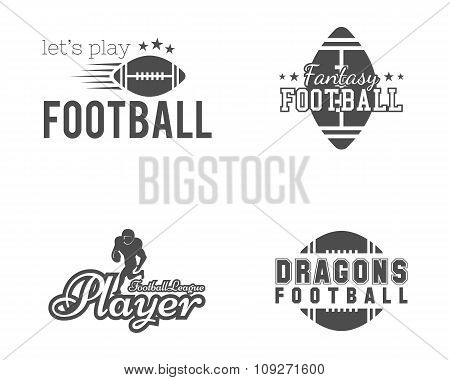 American football team, college badges