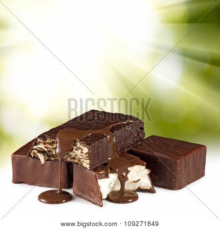Isolated Image Of Delicious Chocolate Candy Closeup