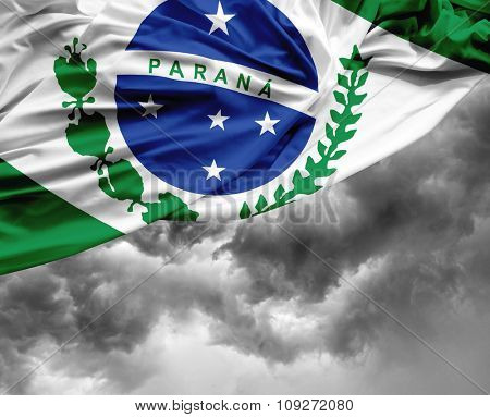 Parana waving flag on a bad day