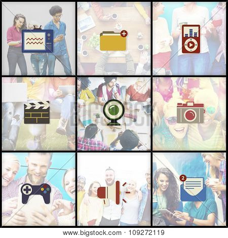 Global Communications Connection Internet Social Media Concept
