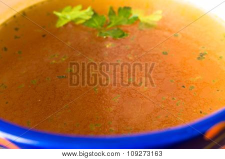 Beef Bouillon Closeup