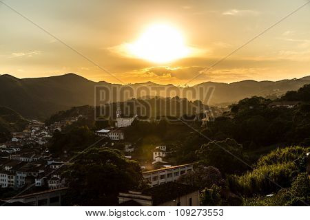Sunset in Ouro Preto, Minas Gerais, Brazil