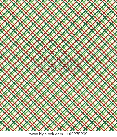Seamless Bright Abstract Netting Pattern in Christmas Colors Iso