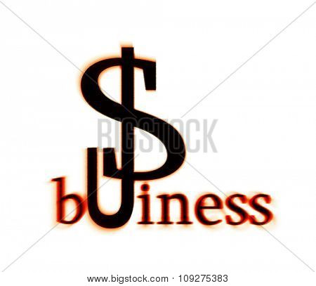Usa business illustration, with US dollar symbol - sign
