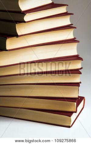 Books. Isolated pile of books
