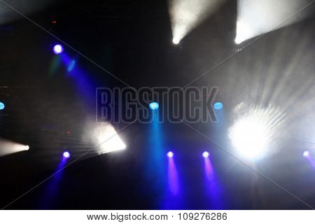 Colorful Stage lights and lignt rays / beams