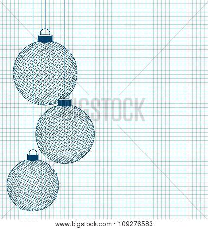 hand-drawn Christmas balls