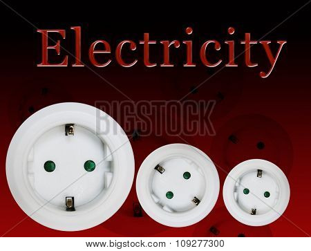 Electric wall plug. Electricity concept. Wall outlets