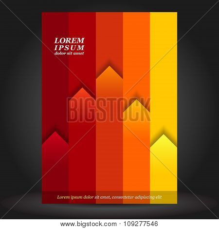 Red Brochure Cover Template Design