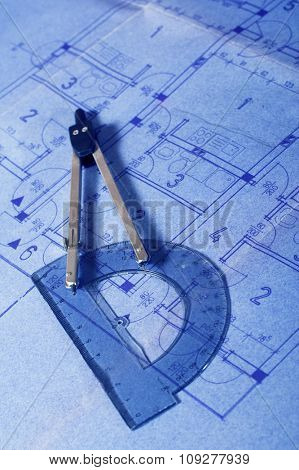 Architecture blueprint document. Engineering concept
