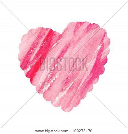 Valentine's Day Card. Watercolor Design Element.