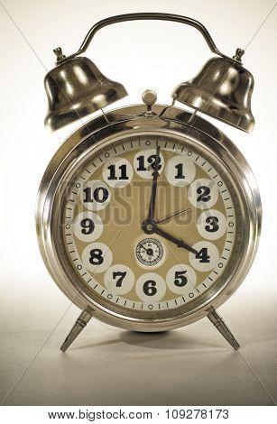 Old retro clock - time concept