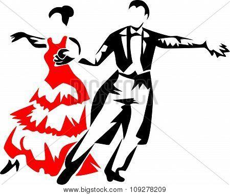 standard dancers