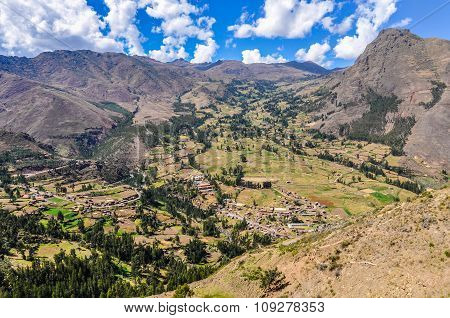 View From Pisac Sacred Valley, Peru