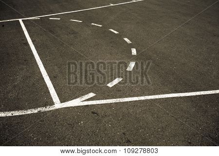 Street basketball court abstract background. Sport concept.