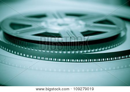 Film reel - concept background. Movie industry symbol.
