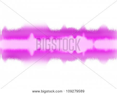 Sound wave visual illustration on white. Audio Equalizer and music concept