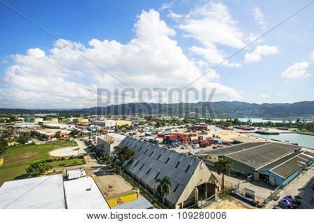 Port of Jamaica on a sunny day.