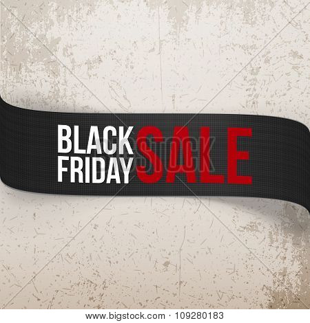 Black Friday Sale bend vector Ribbon