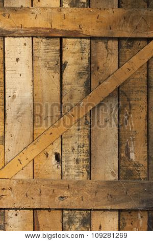 Closeup of a flat wooded wall or plate