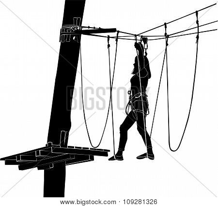 adventure park rope ladder