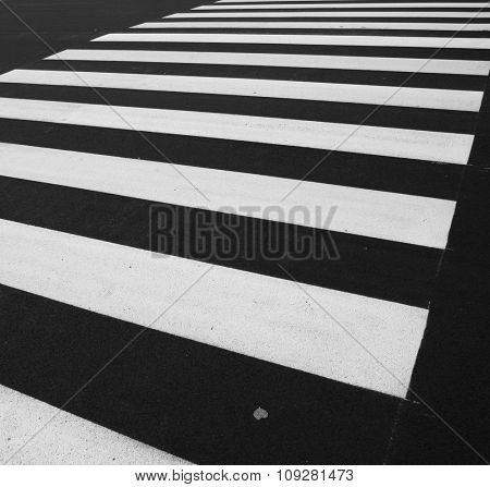Zebra - pedestrian road crossing area