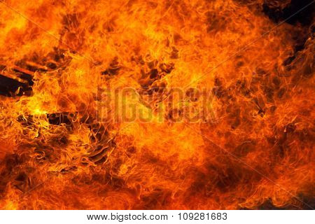 Burning fire closeup background