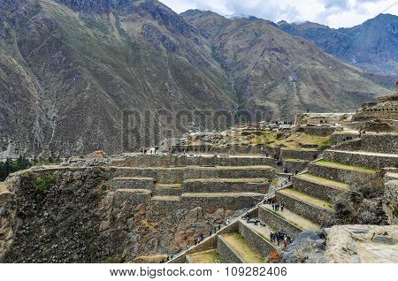 Ruins Of Ollantaytambo In The Sacred Valley, Peru