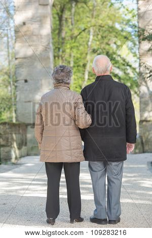 elderly couple outdoor