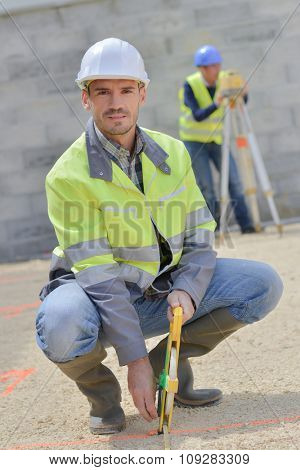 Young worker on a building site