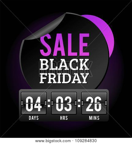 Black Friday sale badges