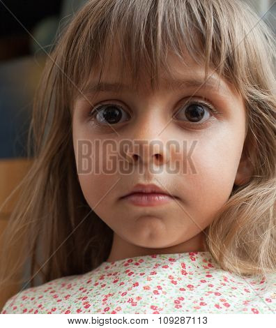 Little Girl With Innocent Expression