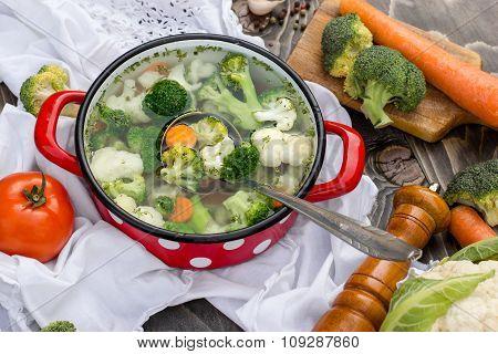 Vegetable soup - healthy food