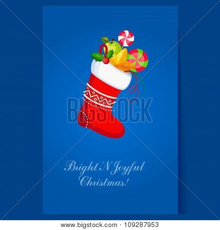 Christmas Socks with Presents. Winter Vector